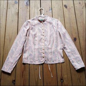 Ralph Lauren Pastel Linen Button Blouse Jacket